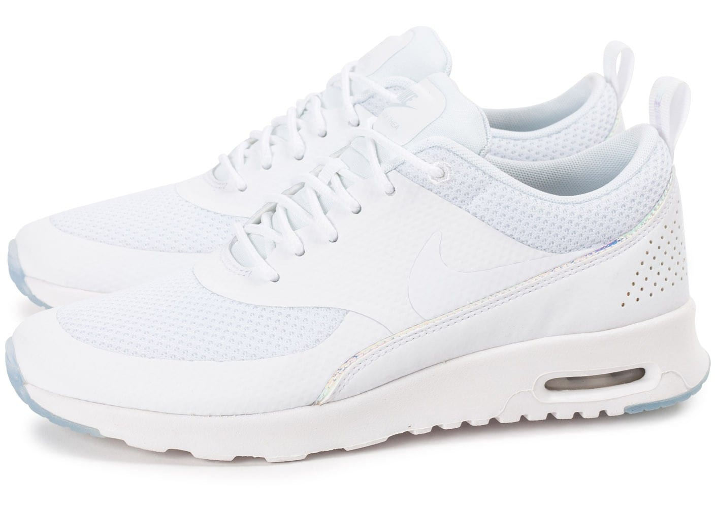 cheap for discount 97f49 8aa12 Cliquez pour zoomer Chaussures Nike Air Max Thea PRM blanche iridescente  vue extérieure ...