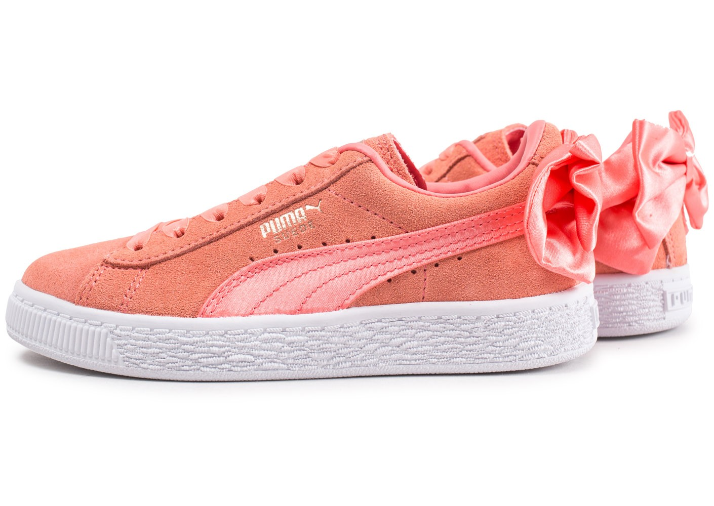 Puma Chausport Chaussures Basket Suede Bow Orange Enfant SGUzMpqV