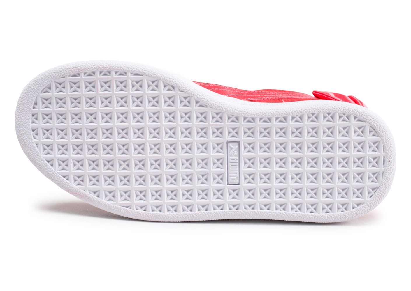 free shipping 4fe32 c6353 Chausport Enfant Rouge Bow Puma Basket Chaussures Suede gqYF7v7A