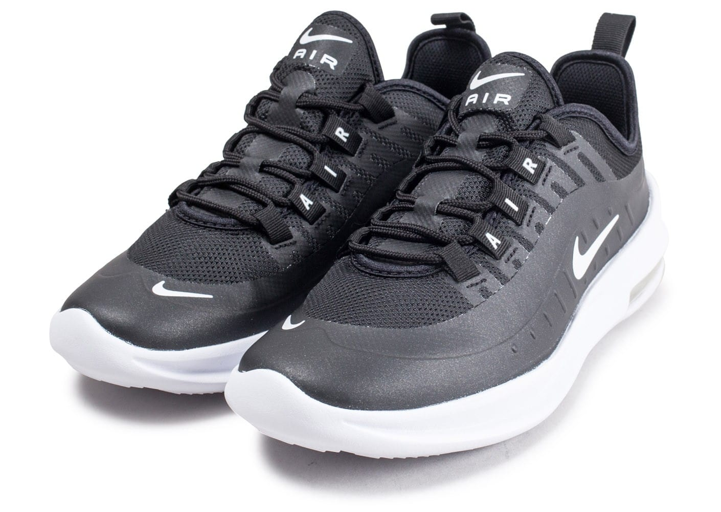 new styles 01376 e74fe ... Chaussures Nike Air Max Axis junior noire et blanche vue intérieure ...