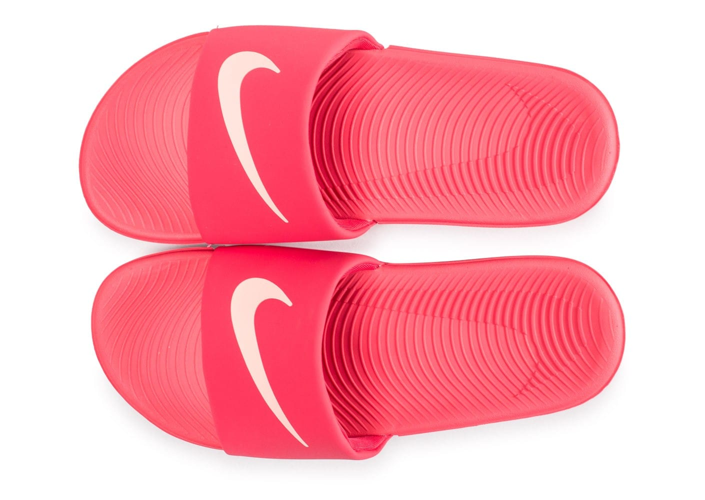 check out d2126 988bf ... Chaussures Nike Kawa Slide 2 junior rose vue arrière ...