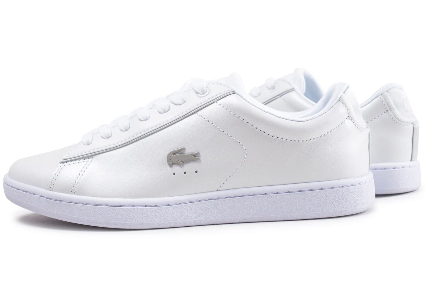 wide varieties size 7 cheap Lacoste Carnaby Evo blanche - Chaussures Baskets femme ...