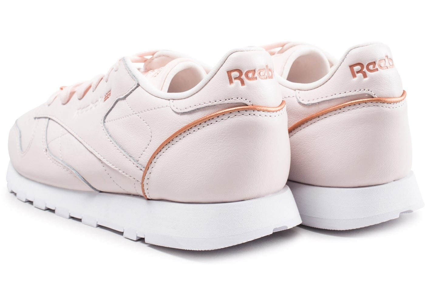 af83d5692dbe Reebok Classic Leather HW rose - Chaussures Baskets femme - Chausport