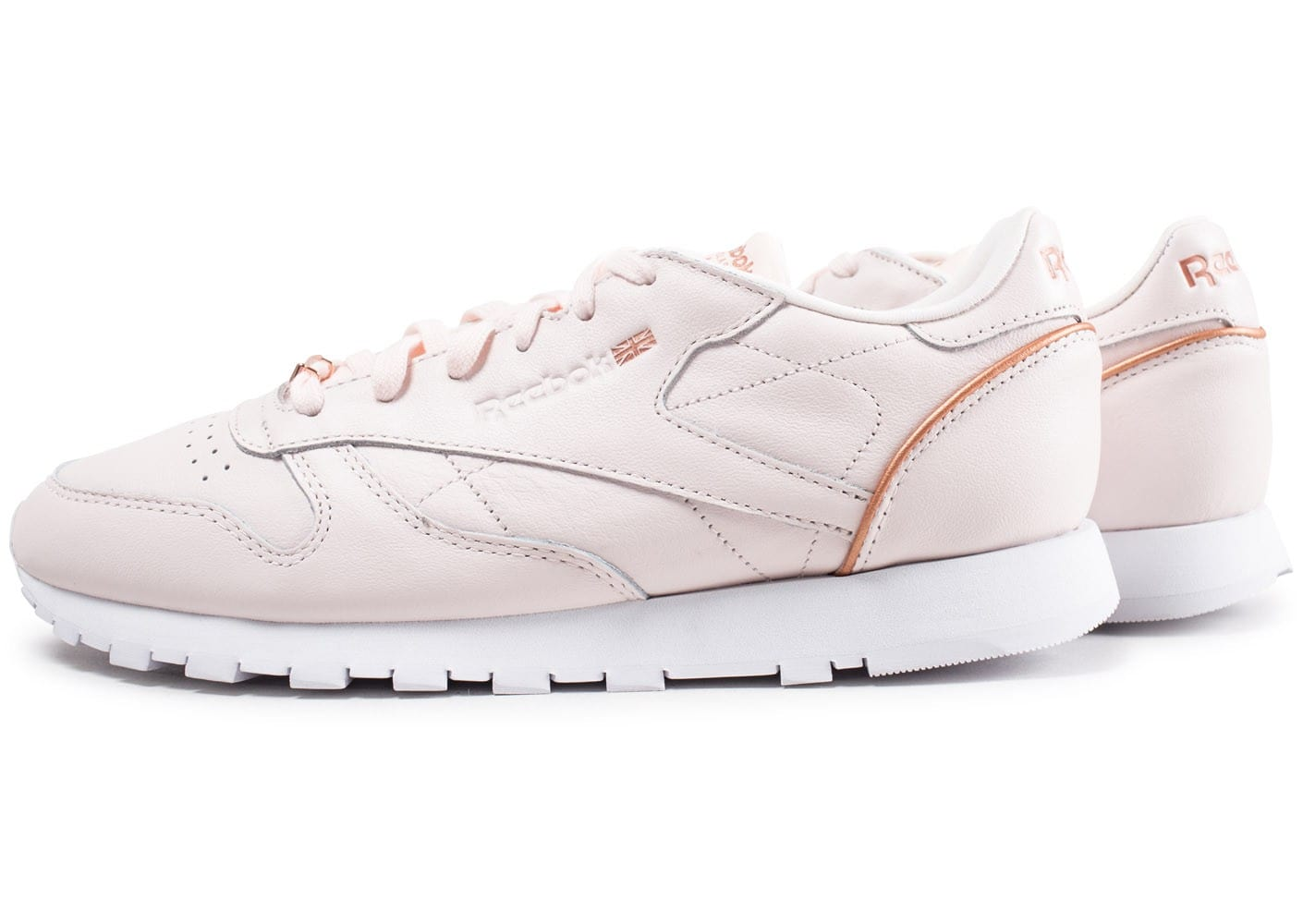 Leather Classic Reebok Rose Chaussures Femme Hw Chausport Baskets T1cKul3FJ