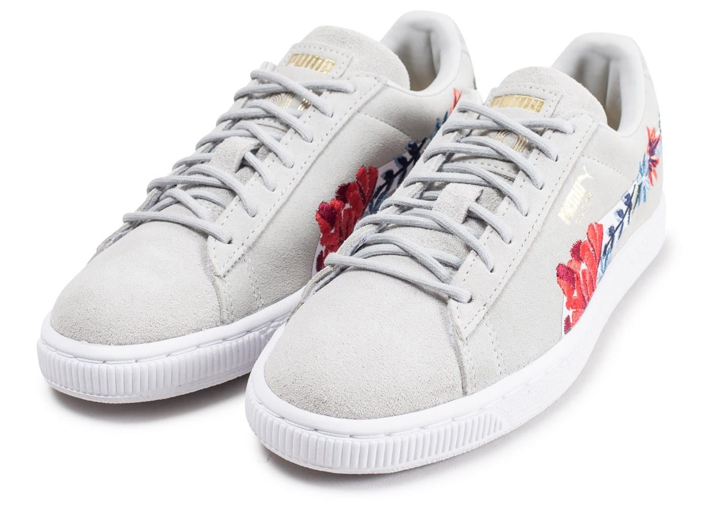 Embellished Les Chaussures Grise Suede Puma Baskets Toutes Hyper EnqF7Yvw