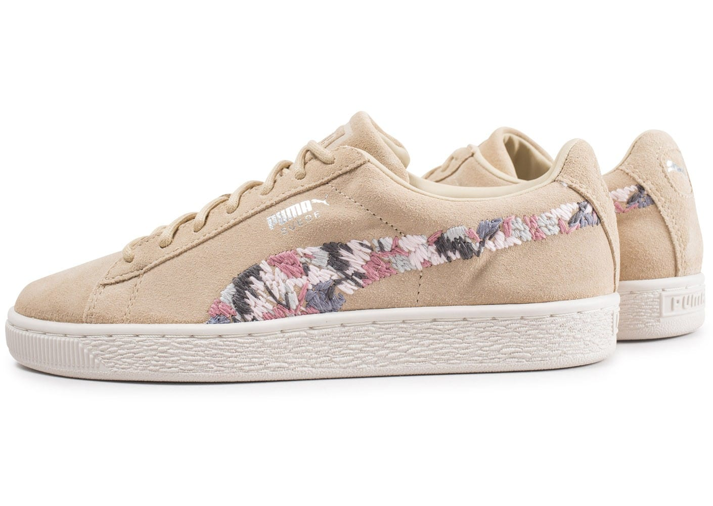 best loved dc1fa 581ad Puma Suede Sunfade Stitch beige - Chaussures Chaussures ...
