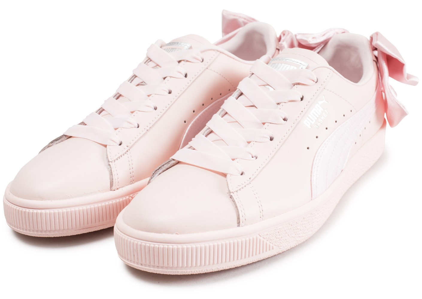 low priced 150be 16b8d ... Chaussures Puma Basket Bow rose vue intérieure ...
