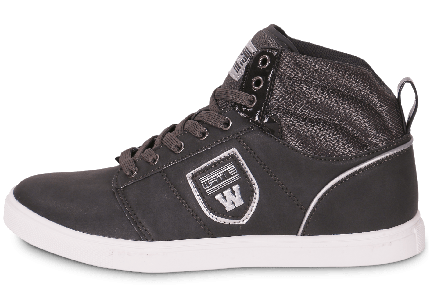 newest 2accd 2e4d4 Wati B Pat Grise - Chaussures Baskets homme - Chausport