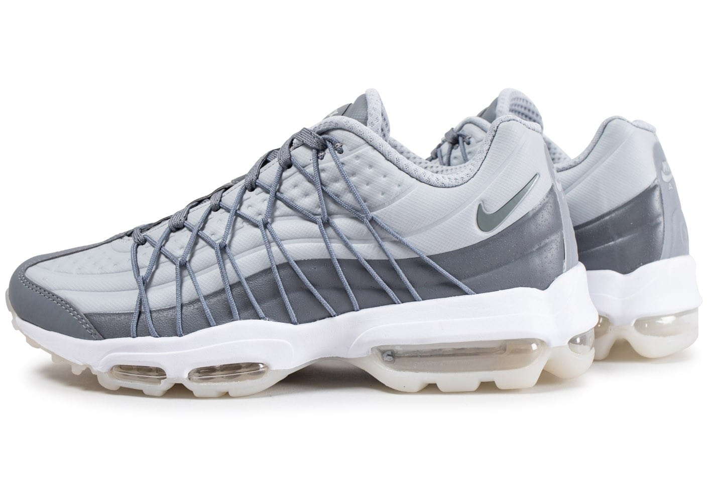 huge selection of a24f4 3f85f Cliquez pour zoomer Chaussures Nike Air Max 95 Ultra grise vue extérieure  ...