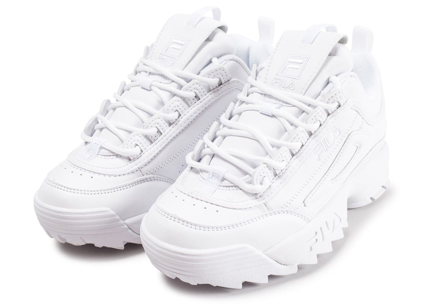 9b2bf5f9c2e Chaussures Fila Disruptor II junior blanche vue intérieure ...