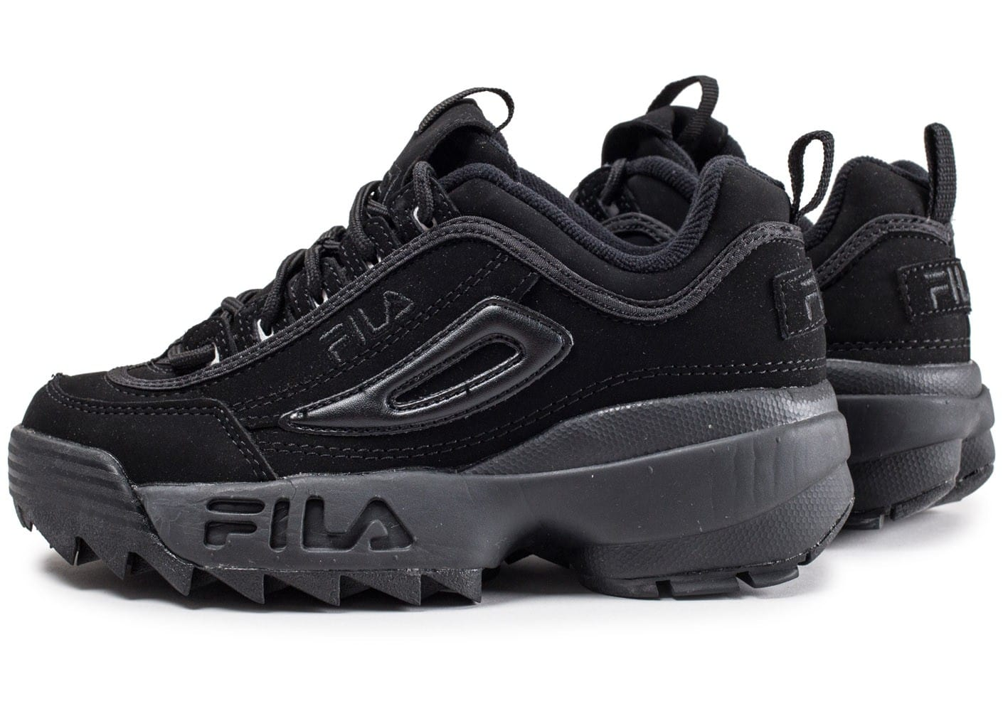 fila disruptor ii junior noire chaussures black friday chaussures et baskets chausport. Black Bedroom Furniture Sets. Home Design Ideas