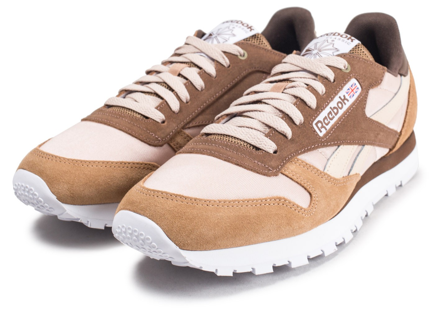 Marron Color Leather System Cans Montana Chaussures Reebok Classic JuTclK13F