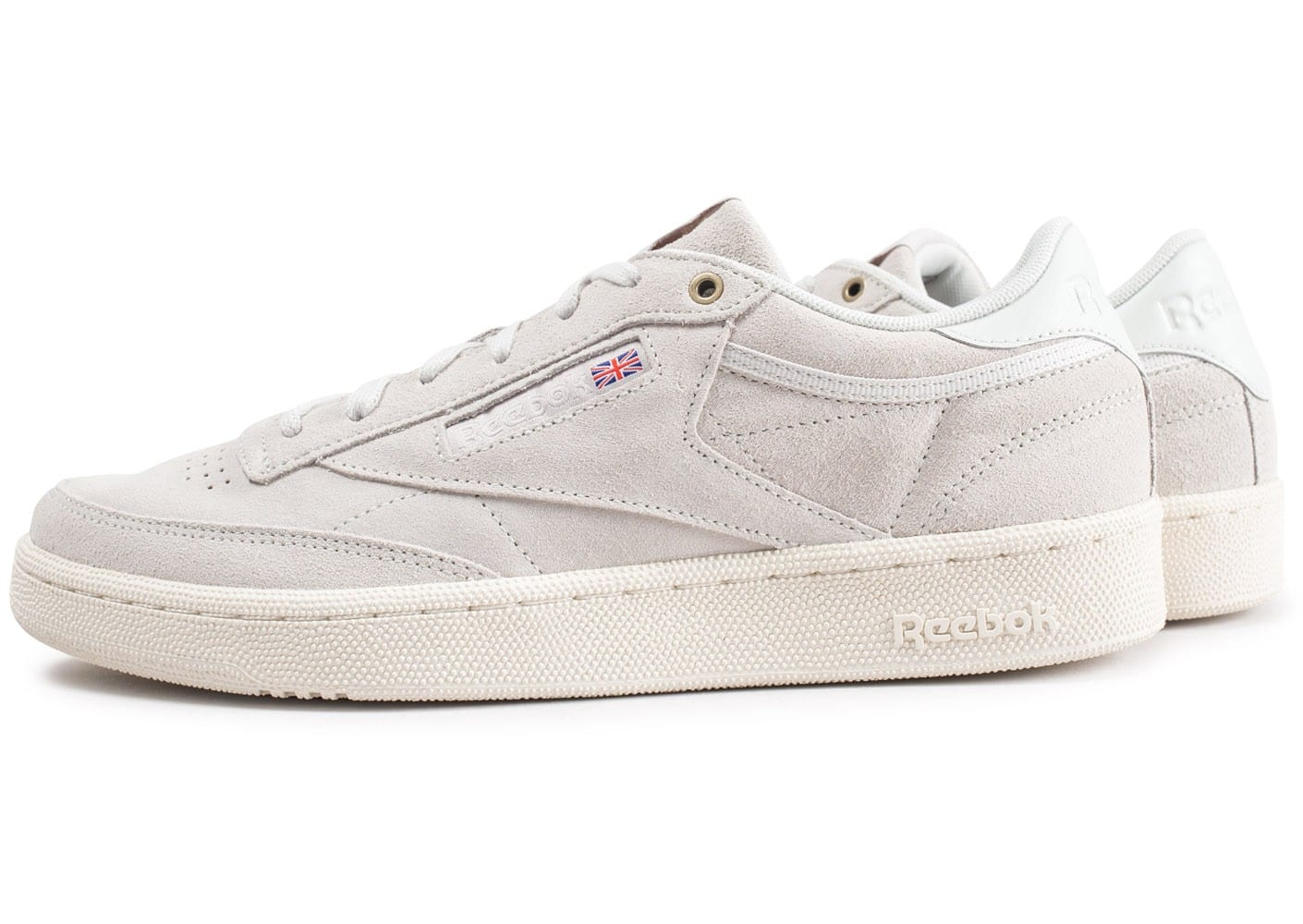 Reebok Sport Club C 85 Montana Cans Collaboration Beige - Chaussures Baskets basses Homme