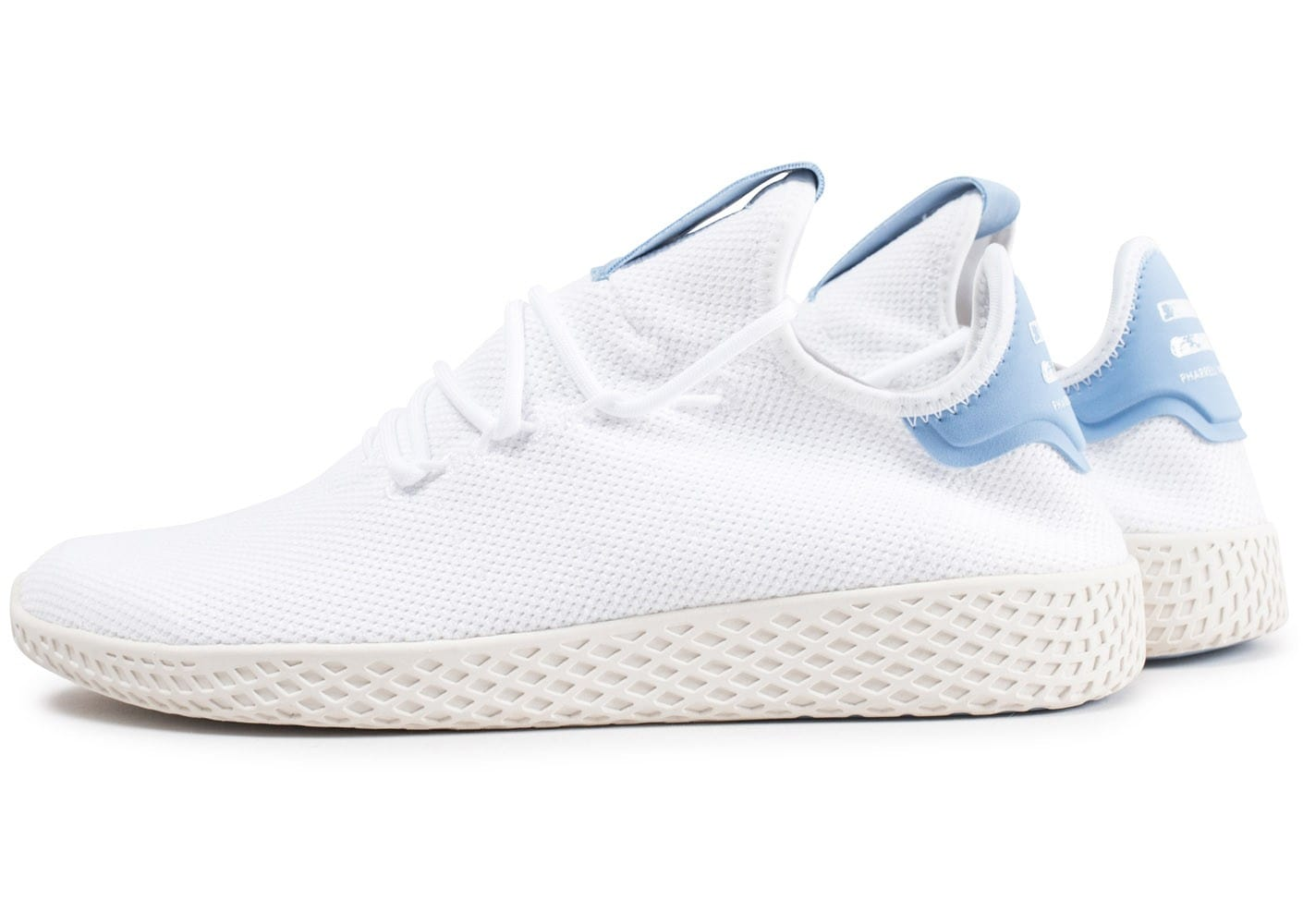Chaussures Pharrell Williams Adidas Originals blanches Fashion homme
