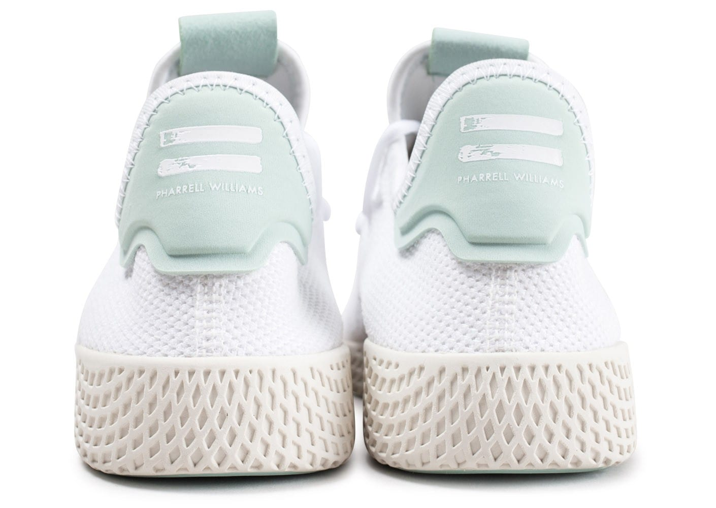 buying now best shoes check out adidas Pharrell Williams Tennis Hu blanche et verte ...