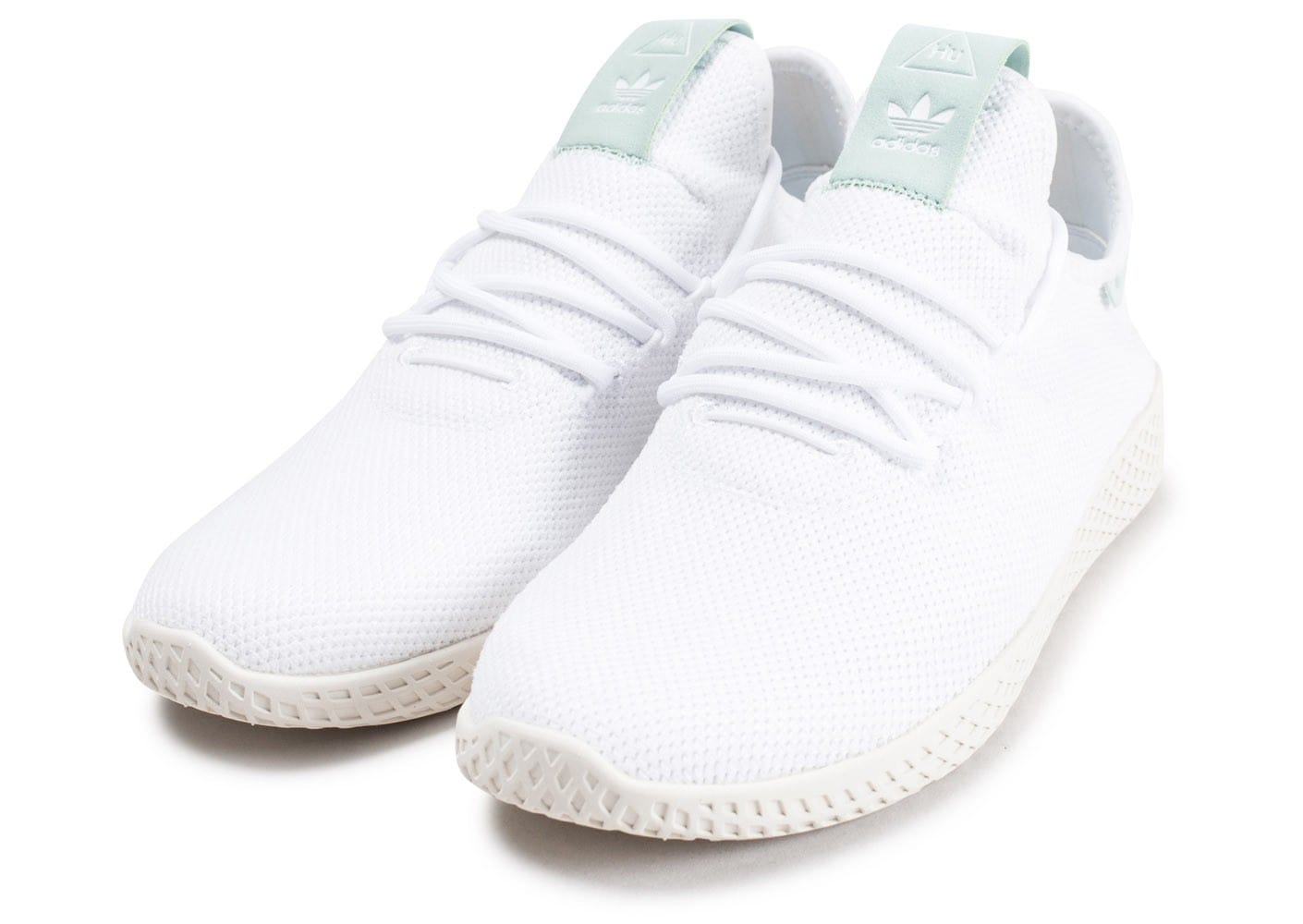 more photos 6afc8 2182f Verte Blanche Hu Williams Chaussures Tennis Adidas Et Pharrell gqwSxAwYO