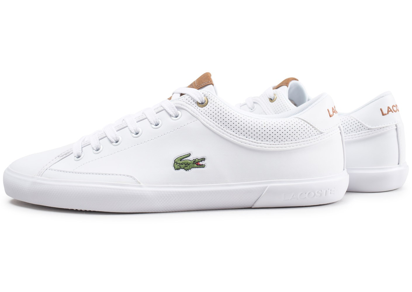 Baskets Blanche Chausport Angha Chaussures Homme Lacoste EDH29IW