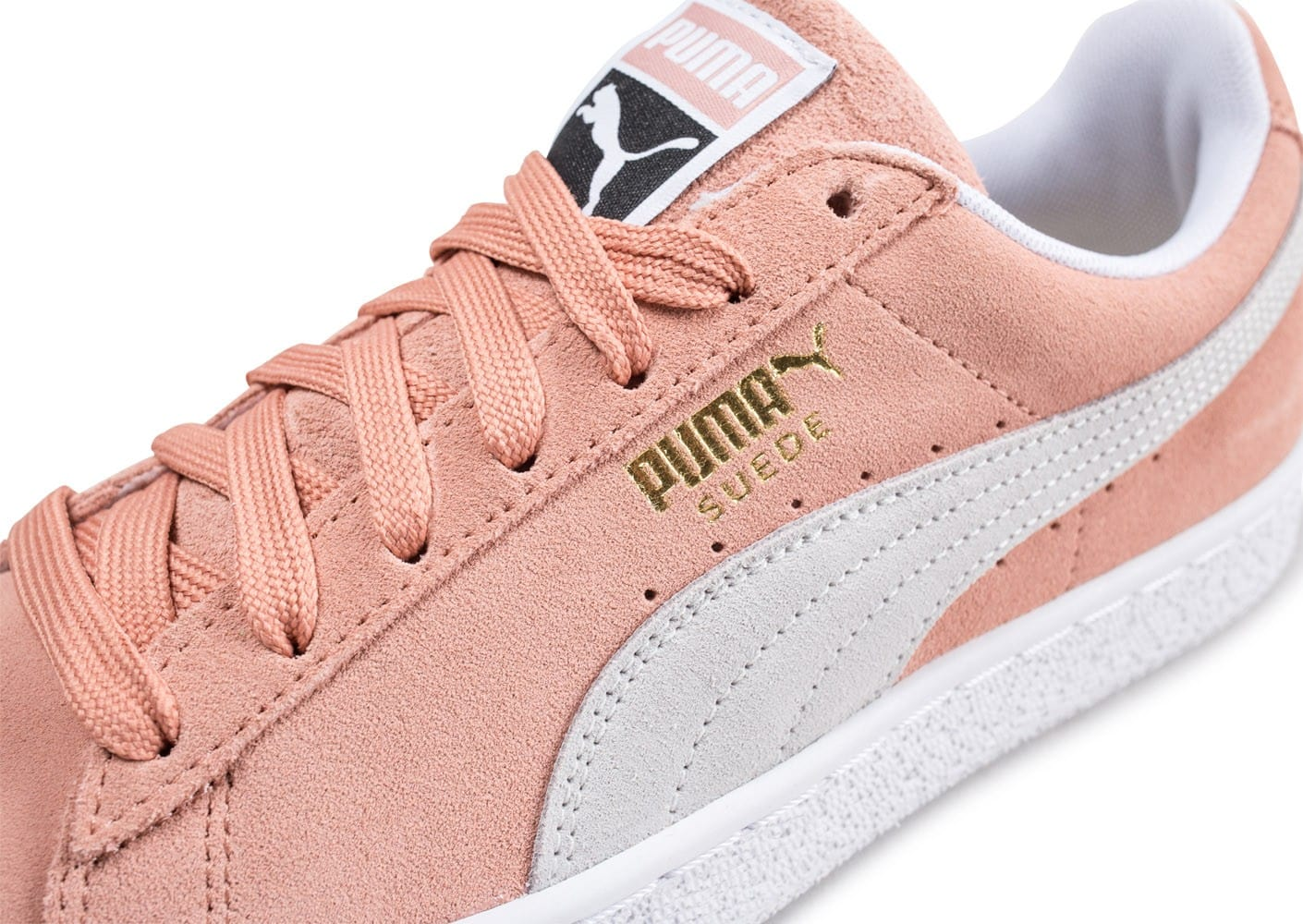 tout neuf 2ecef 6a469 Puma Suede Classic rose saumon - Chaussures Baskets homme ...