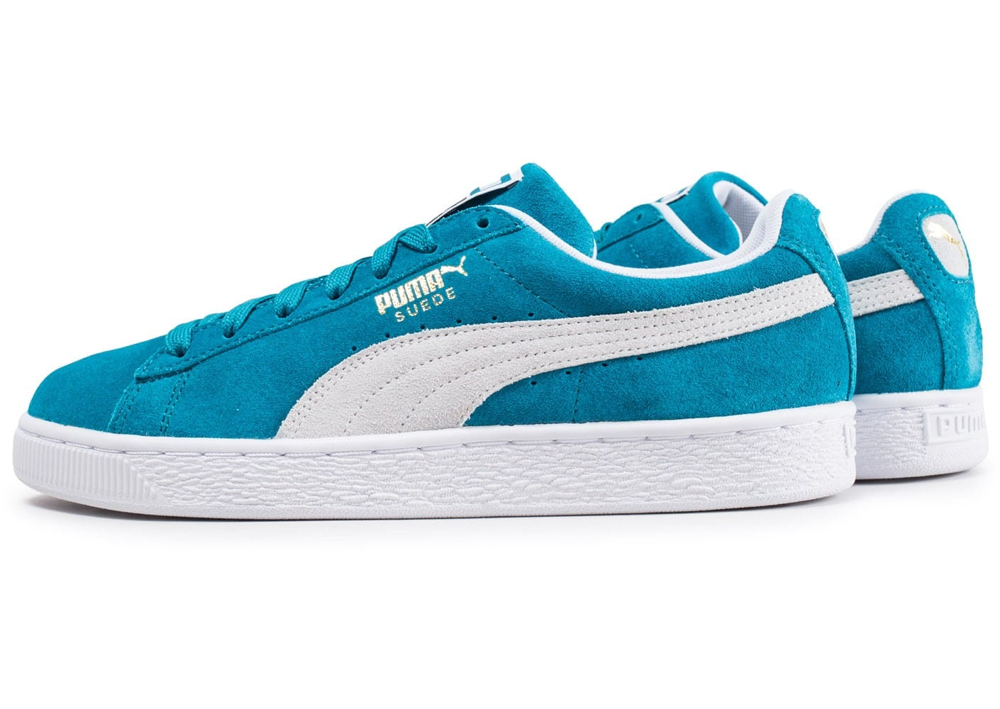 Puma Suede Classic bleu turquoise Chaussures Baskets homme