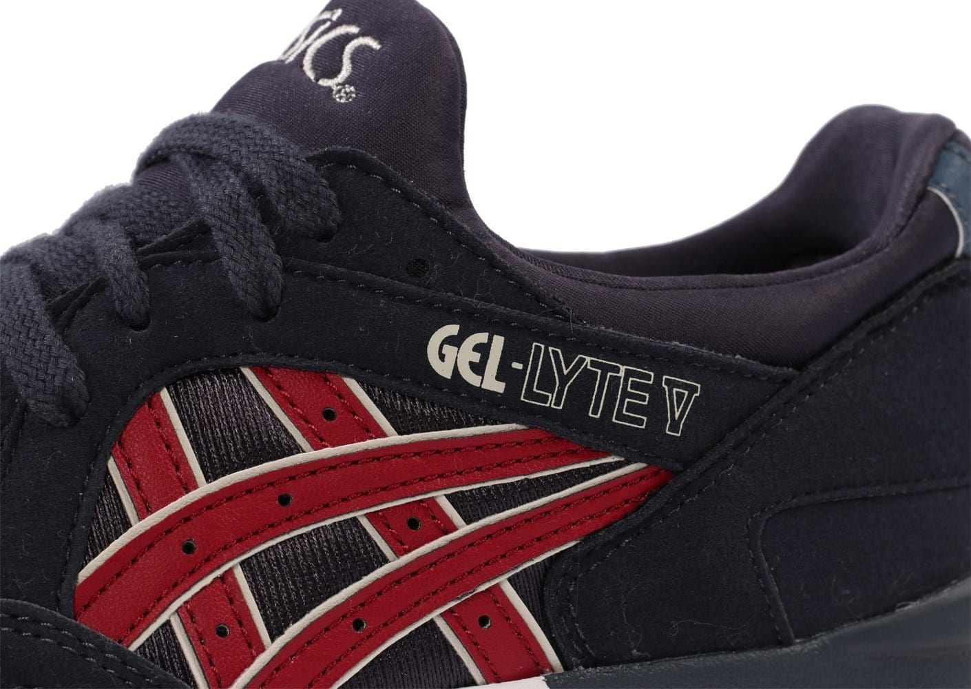 low priced ab32a 470b8 Asics Gel Lyte V Junior bleu marine et rouge - Chaussures ...