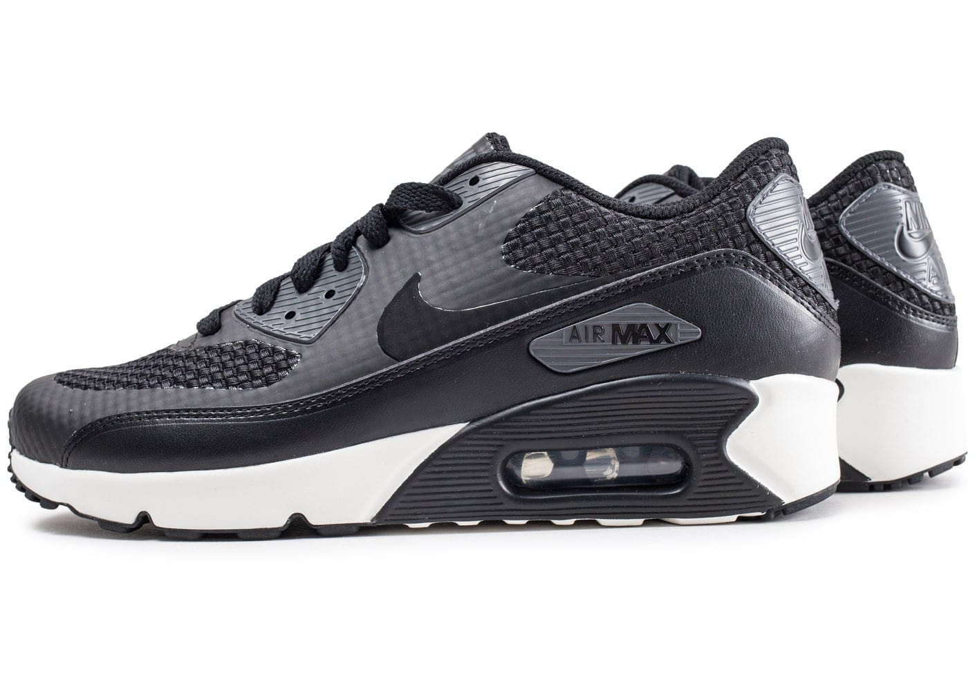 Nike Air Max 90 Ultra 2.0 Essential, Sneakers Basses Homme, Noir (Noir/