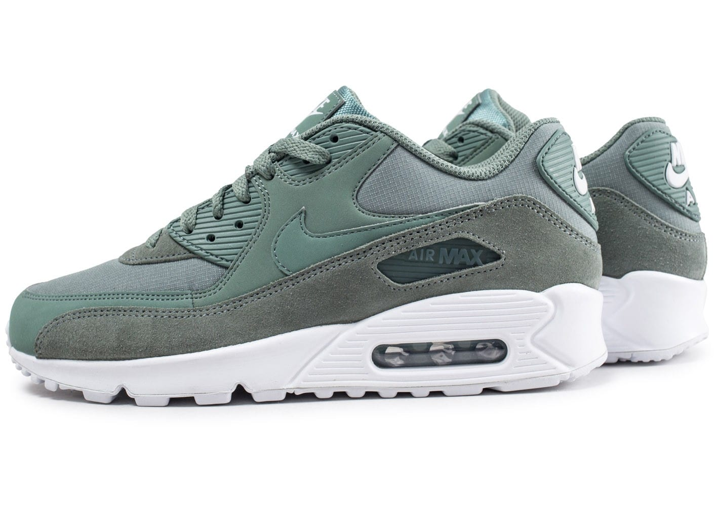 super populaire ed2f0 75319 Nike Air Max 90 Essential vert - Chaussures Baskets homme ...