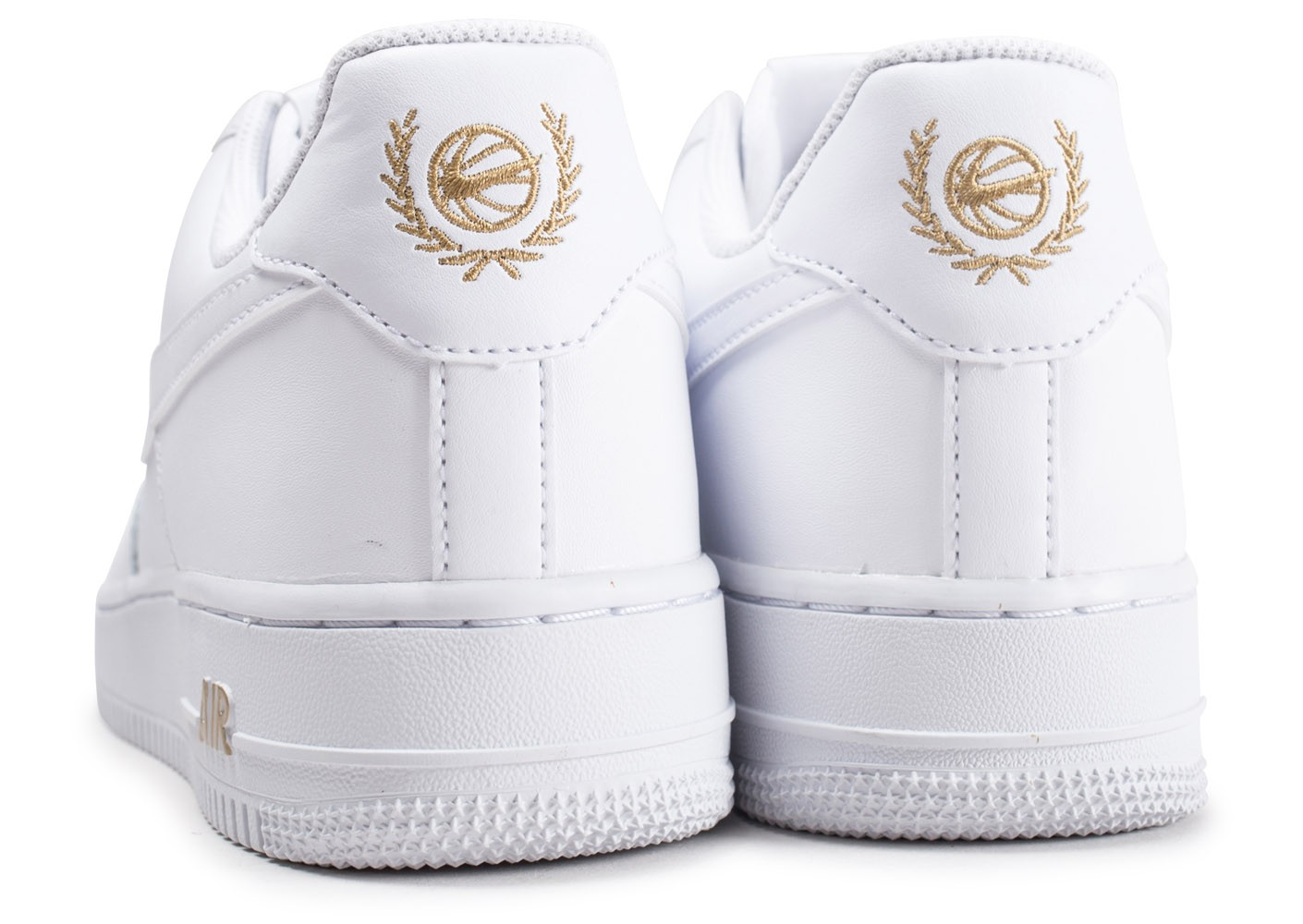 bas prix f58a7 f6623 Nike Air Force 1 '07 Low Blanche et or - Chaussures Baskets ...
