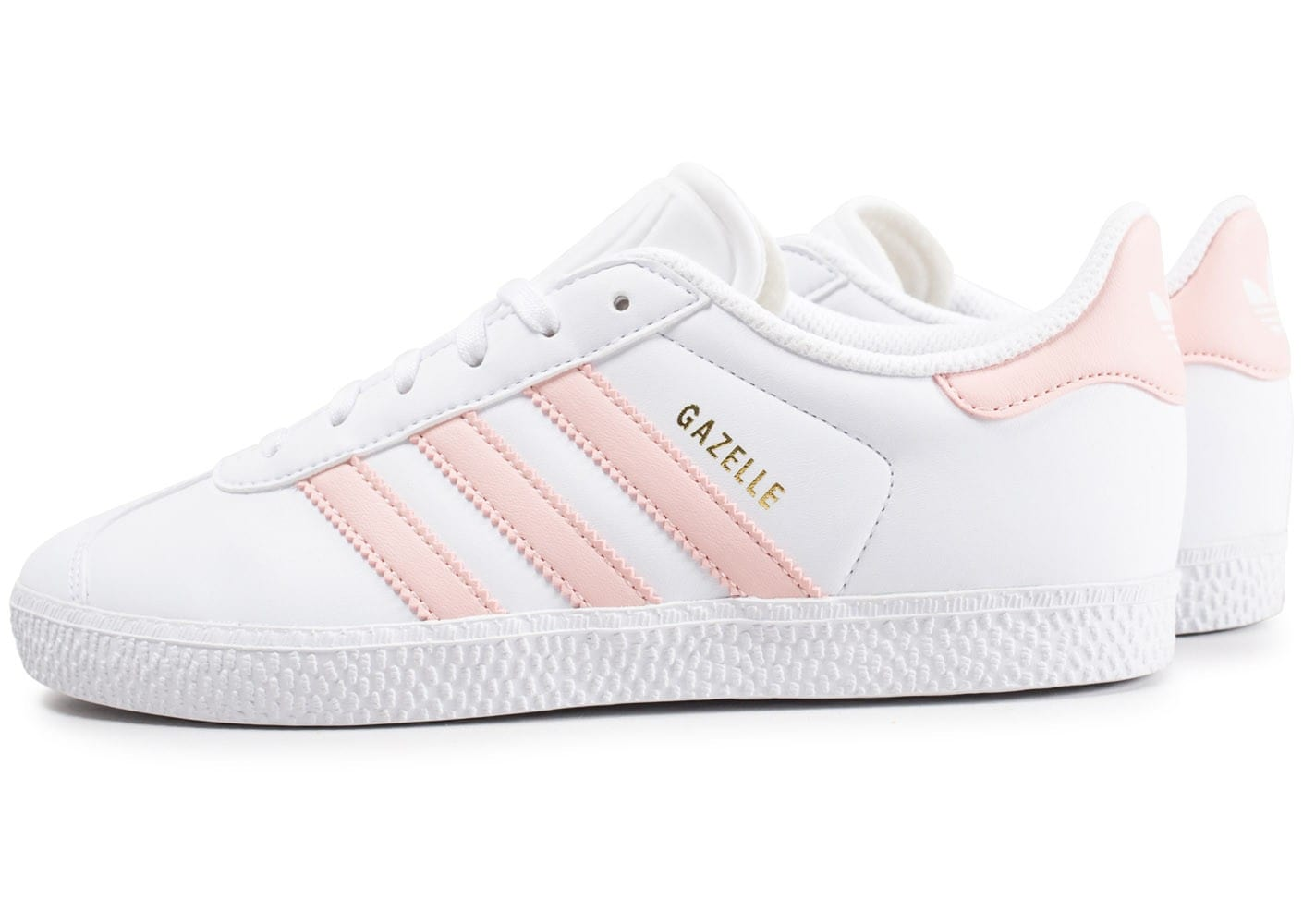 adidas gazelle junior blanche et rose chaussures adidas chausport. Black Bedroom Furniture Sets. Home Design Ideas