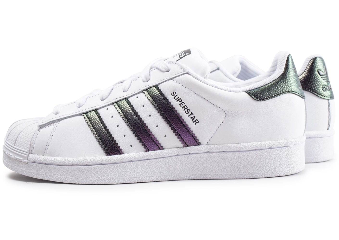 adidas Superstar junior blanche et iridescent