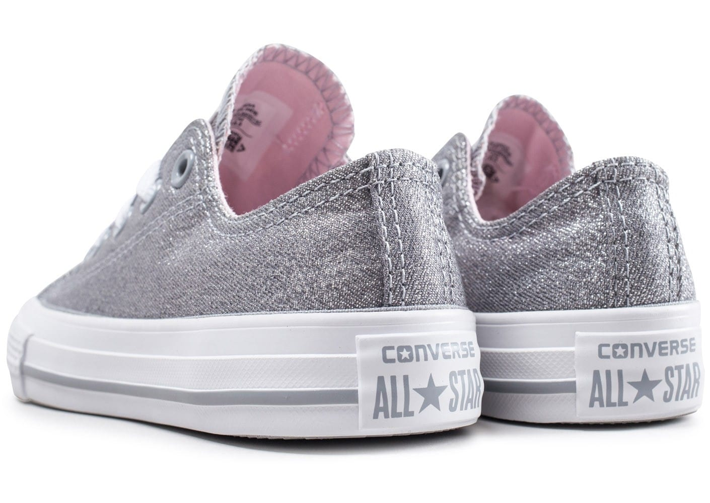 Converse Chuck Taylor All Star Low Bébé Gris Pailleté