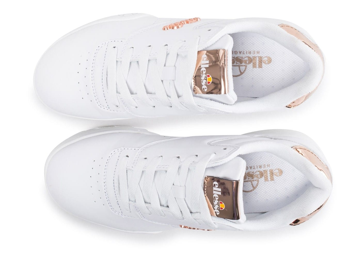 Full White Plativo Low Femme Baskets Chaussures Ellesse Chausport Nvmn08w