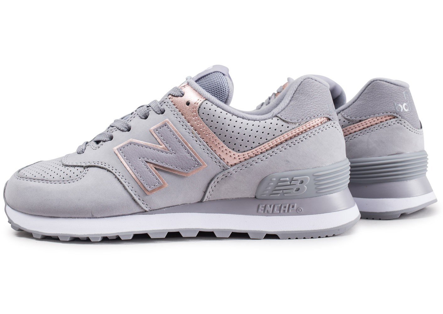 new balance gris et or