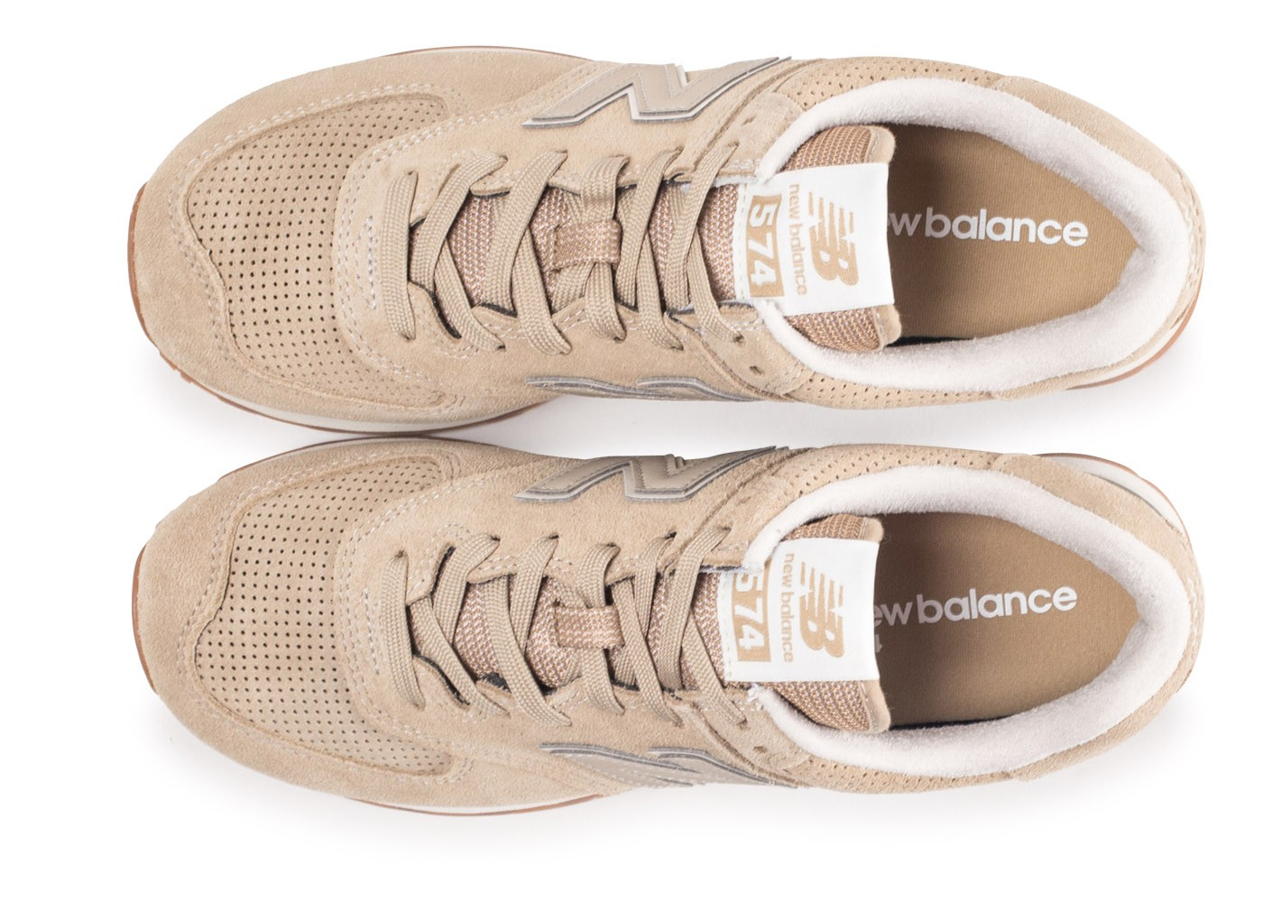 sports shoes 71f12 3c334 New Balance ML574ESF beige - Chaussures Baskets homme ...