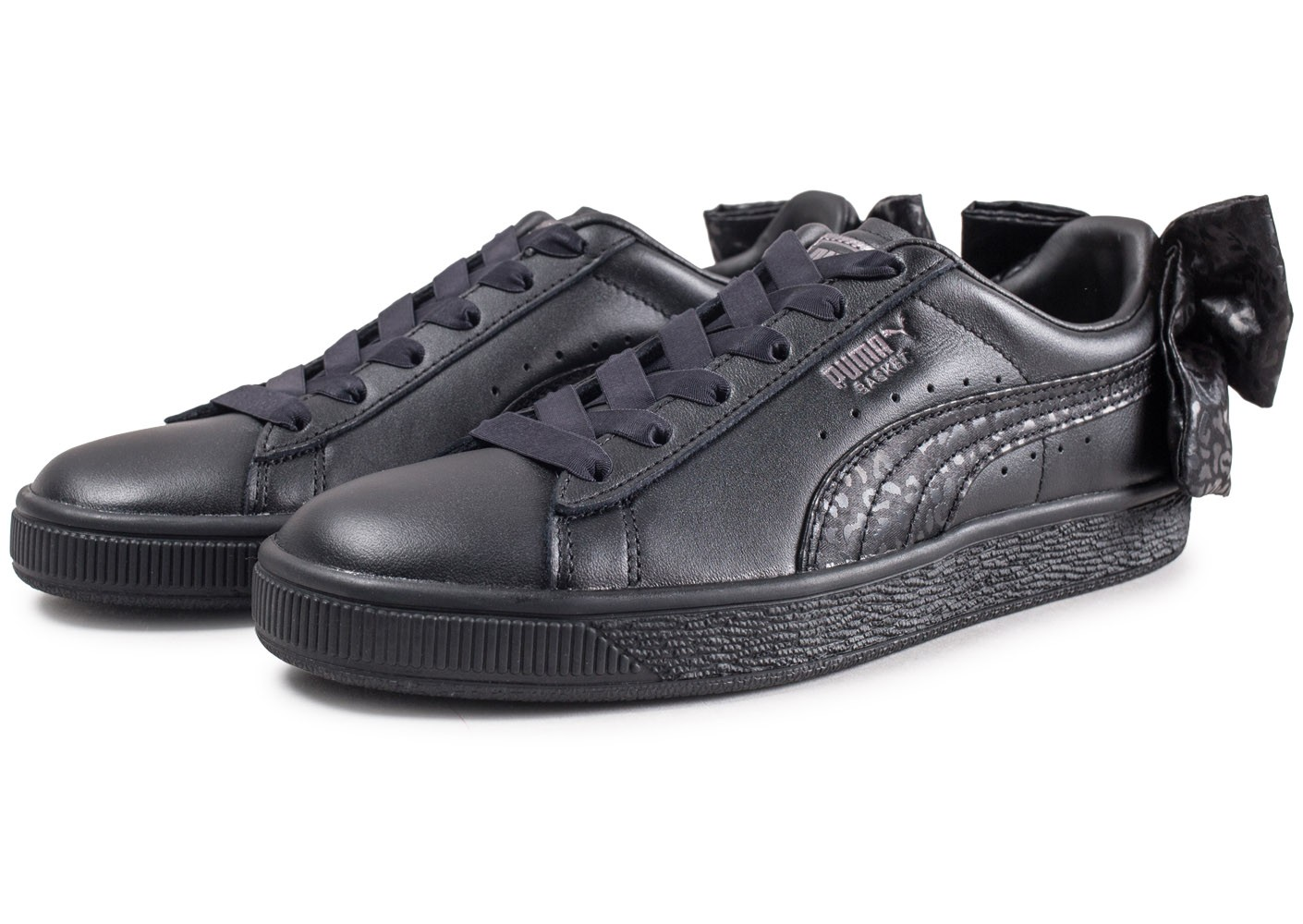 new style 78cd0 f51c8 ... Chaussures Puma Suede Bow Animal noire femme vue intérieure ...