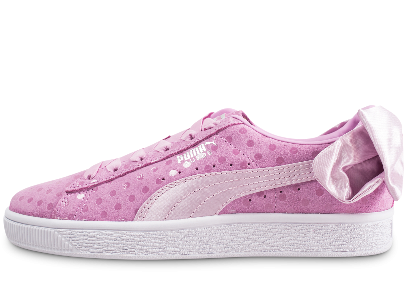 Puma Suede Bow Dots rose