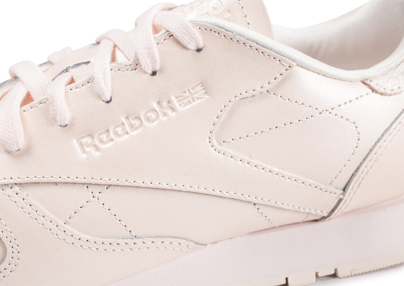 Chaussures Rose Femme Leather Reebok Baskets Classic Pâle
