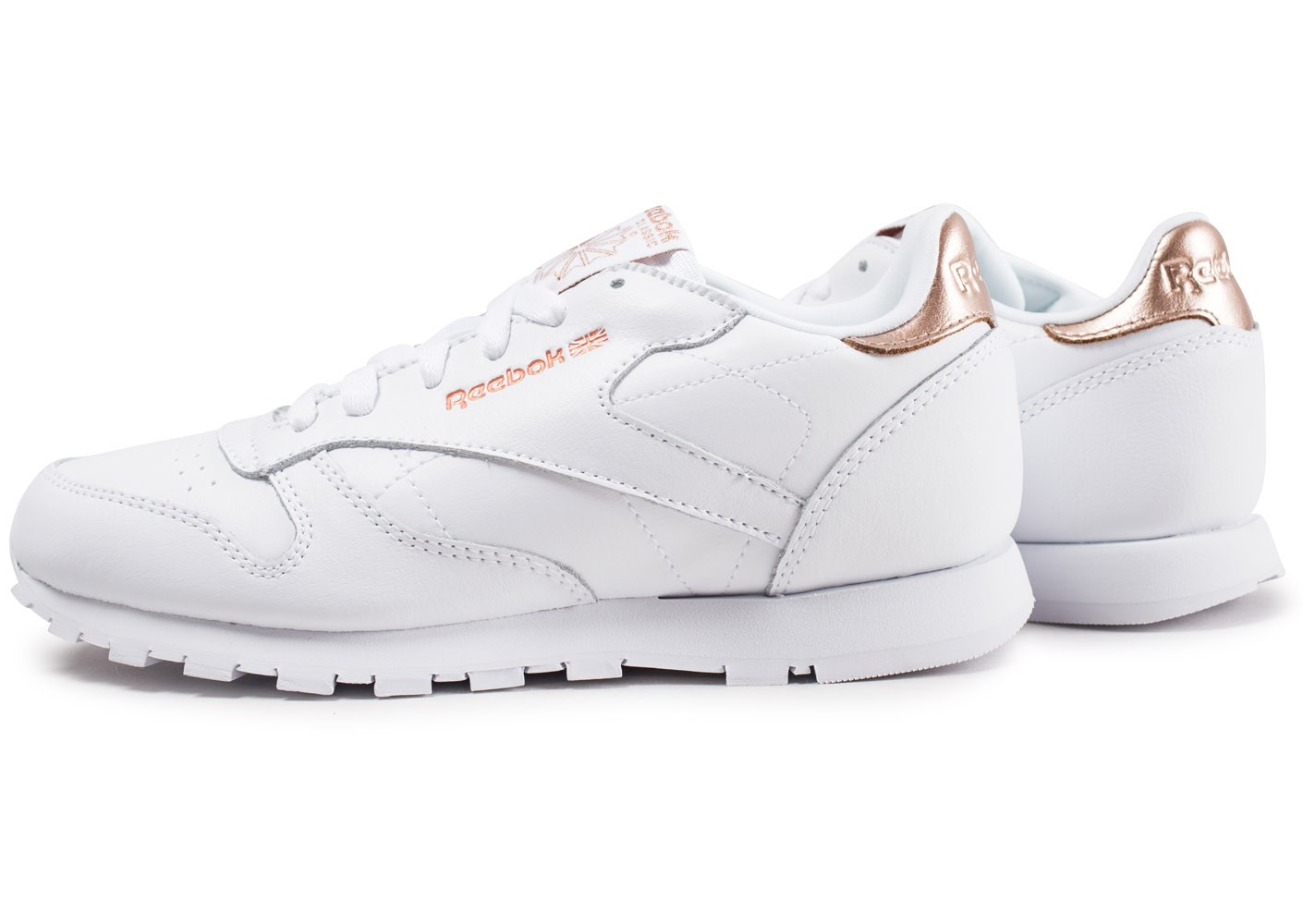 Reebok Classic Leather blanche et or junior Chaussures