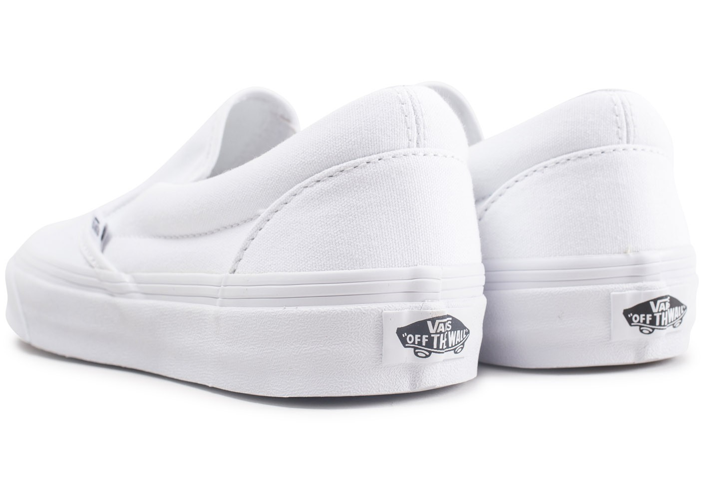 Vans Classic Slip-On blanche - Chaussures Baskets homme ...