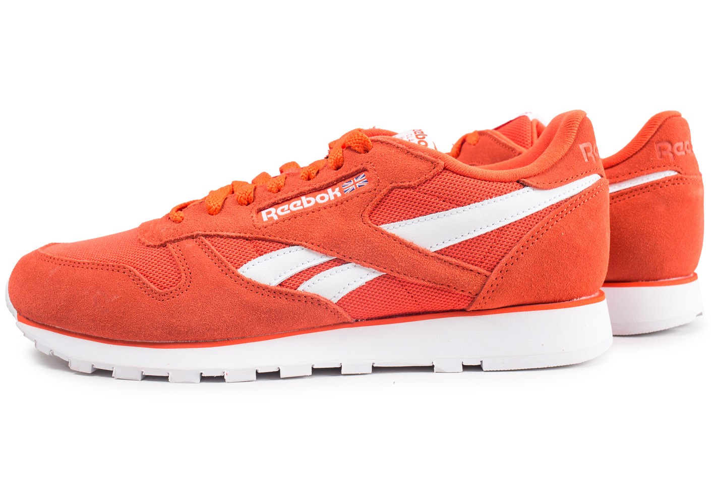 lowest discount amazing price to buy Reebok Classic Leather orange - Chaussures Baskets homme - Chausport