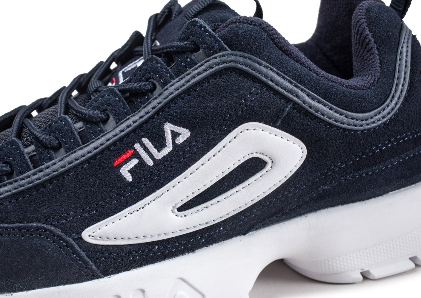 Disruptor Bleue Chaussures Homme Fila Baskets Suede