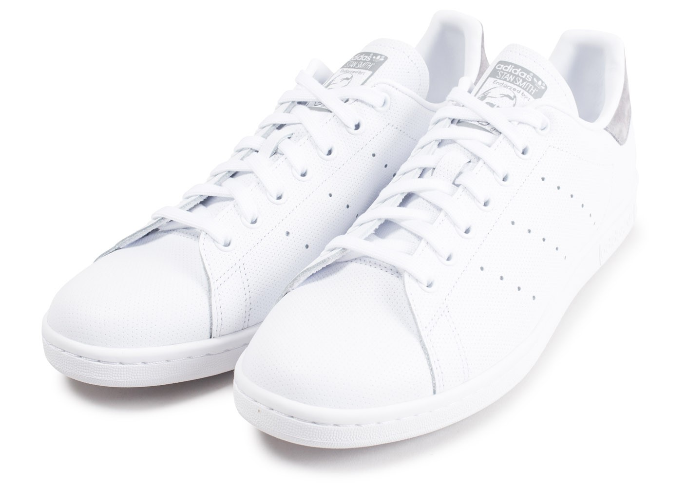 adidas Stan Smith blanc et gris - Chaussures Baskets homme ...