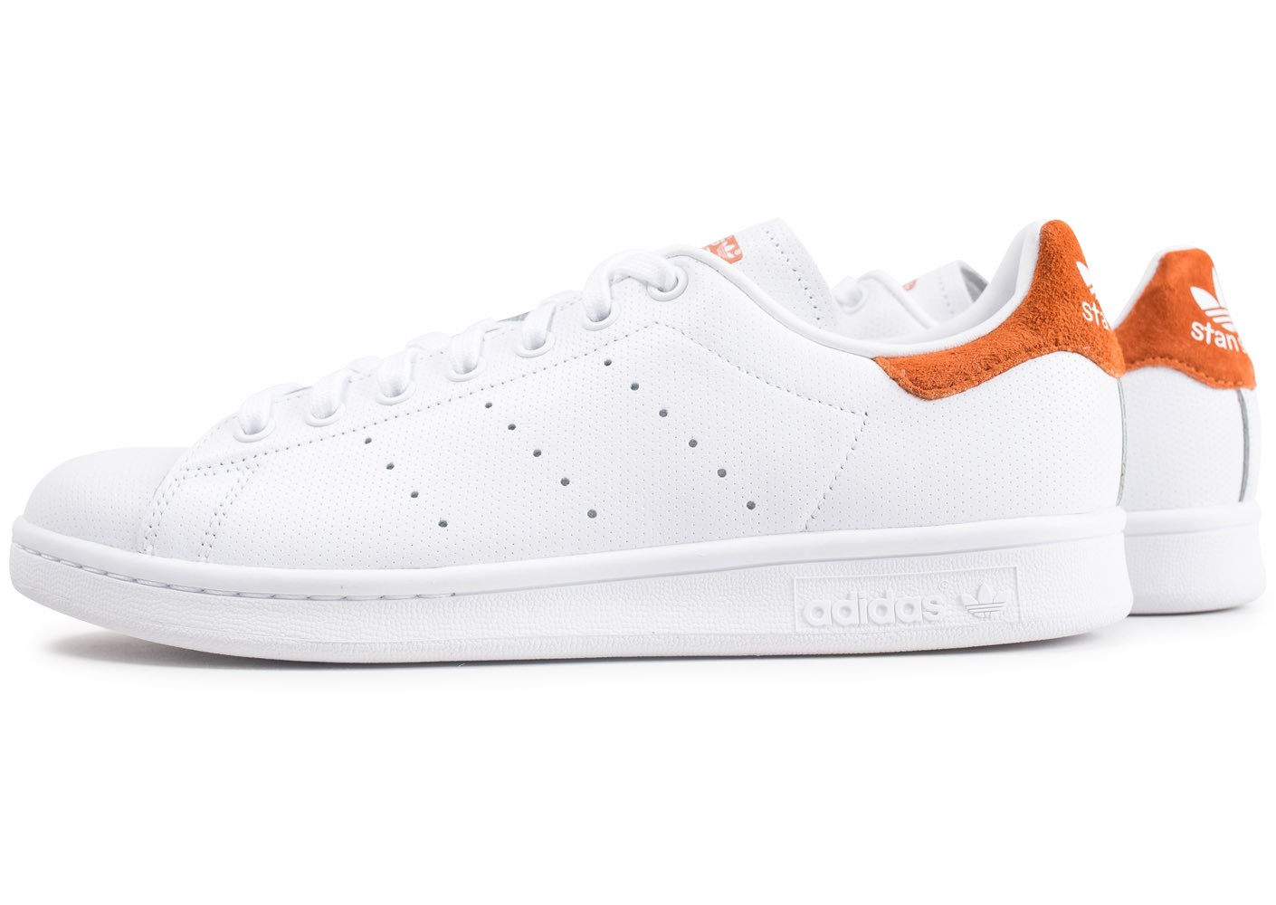 adidas Stan Smith blanche et rouge Chaussures Baskets