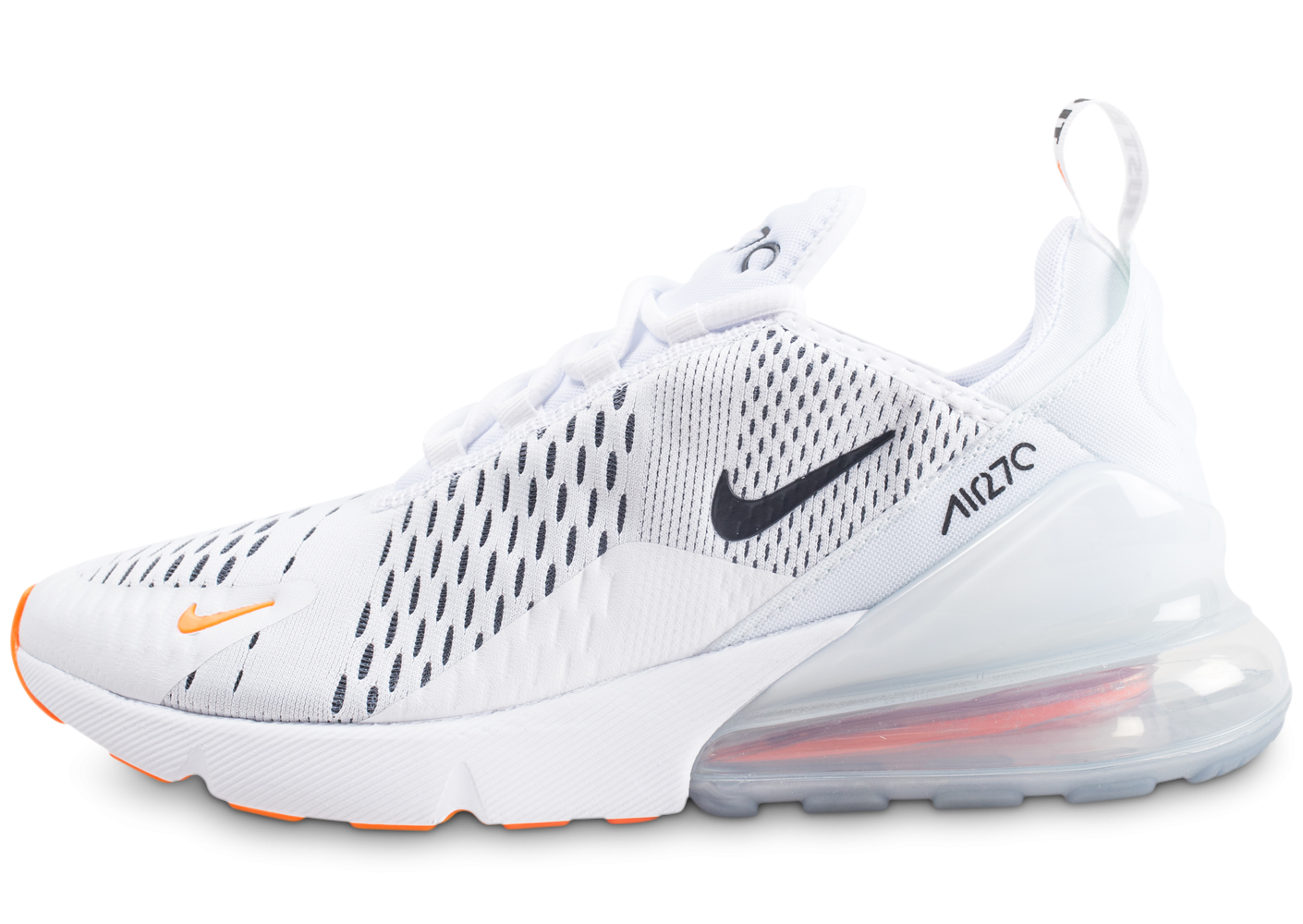 detailed look 4b937 a55e0 Nike Air Max 270 Just do It blanc total orange - Chaussures Baskets homme -  Chausport