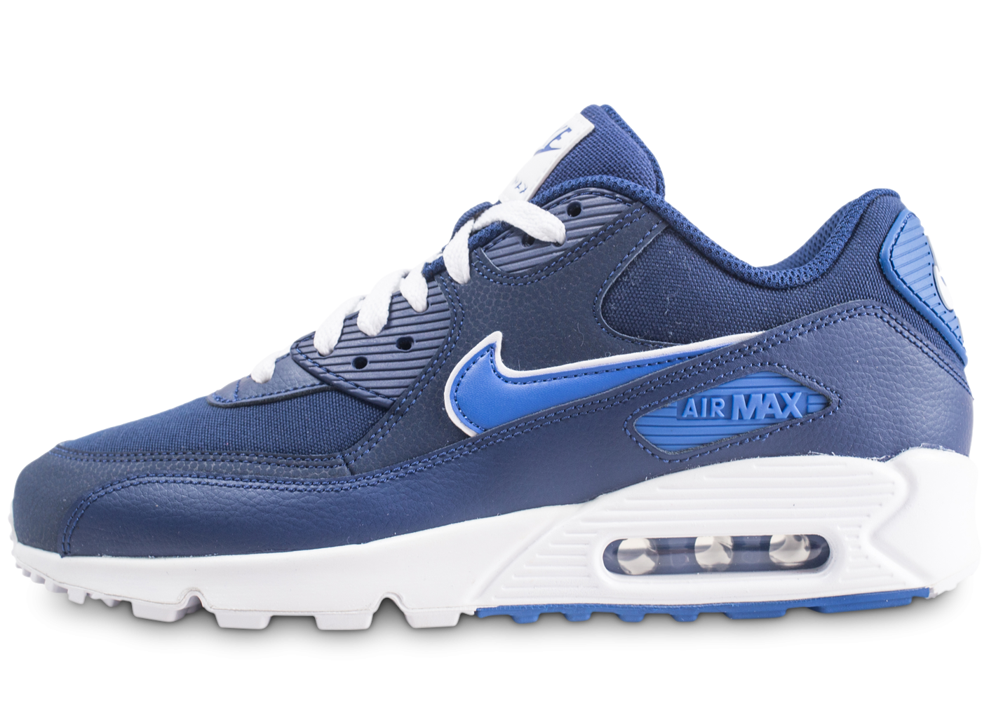 new product 91650 bcfee Nike Air Max 90 Essential bleu - Chaussures Baskets homme - Chausport