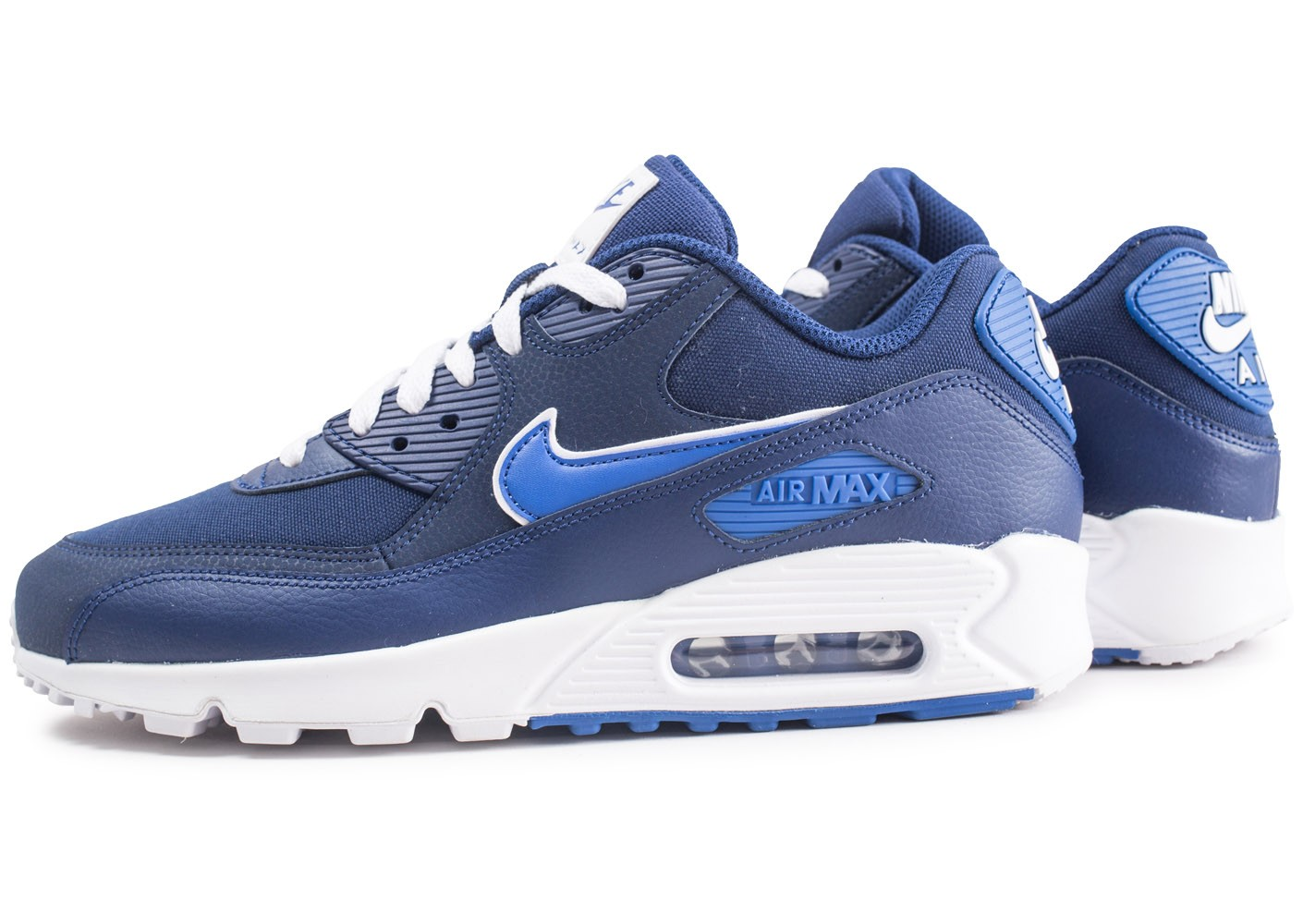 nike baskets air max 90 essential - homme - bleu marine
