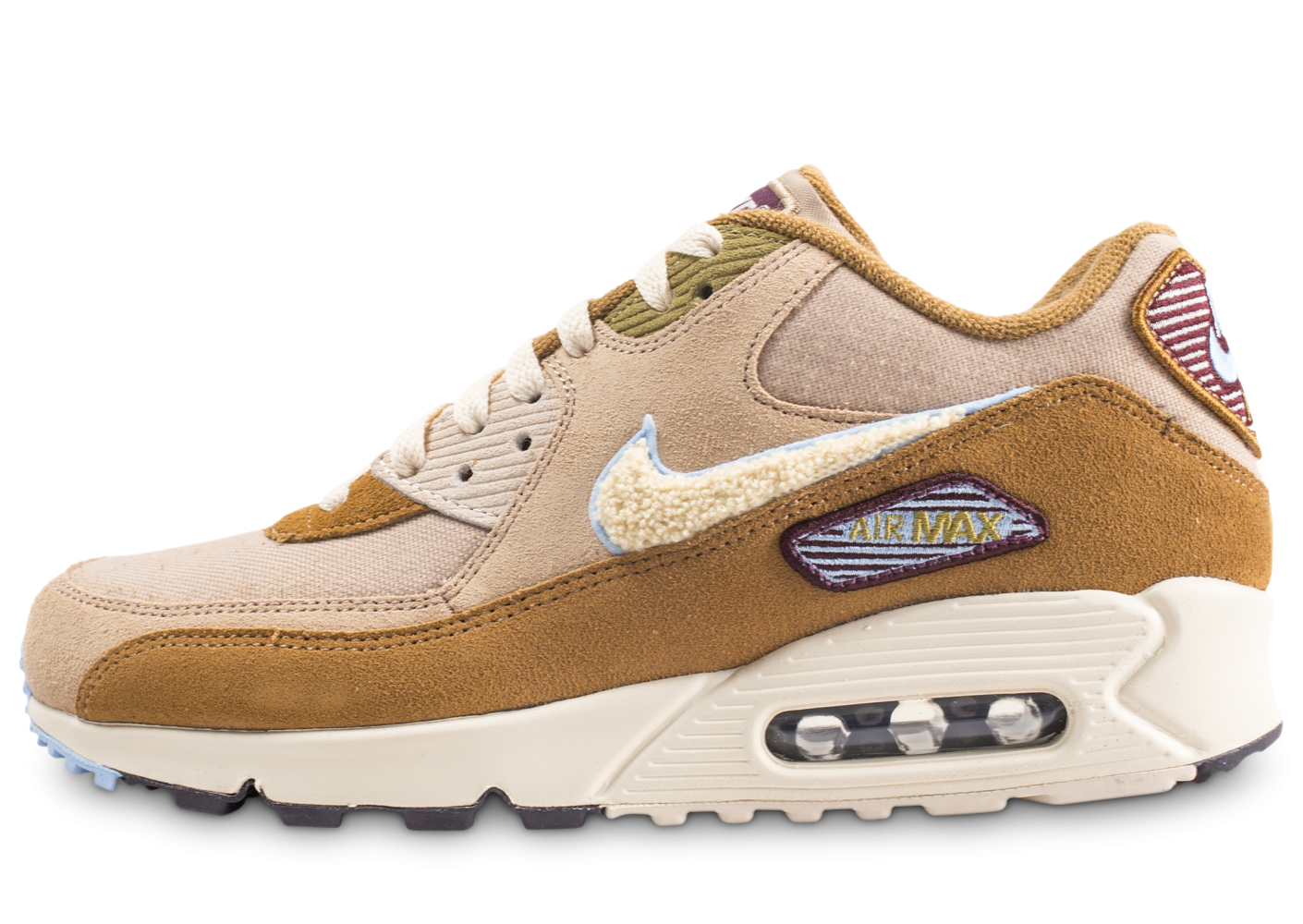 check out 4fa76 1c735 Nike Air Max 90 Premium SE Beige Chenille - Chaussures Baskets homme -  Chausport