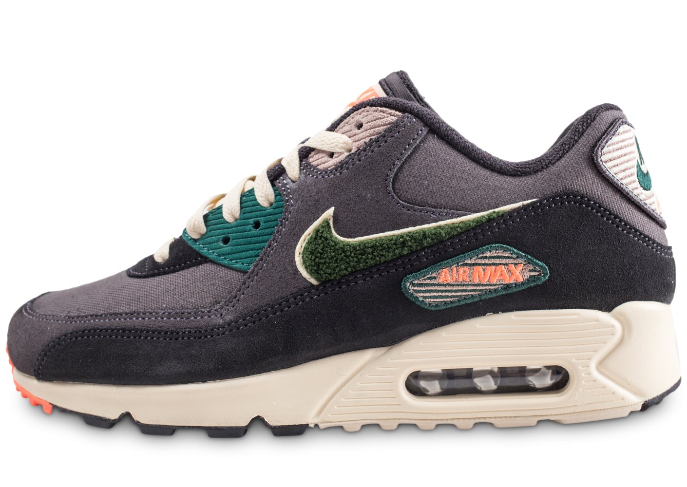 the latest b8a9b 19949 Nike Air Max 90 Premium SE grises - Chaussures Baskets homme - Chausport