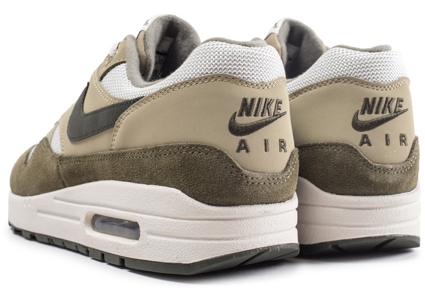 save off 702ab 32092 ... Chaussures Nike Air Max 1 Medium Olive vue dessous ...