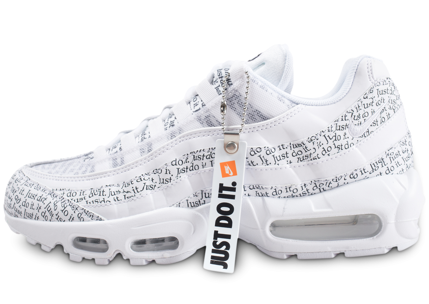 new arrival f06f0 ffb51 Nike Air Max 95 SE blanche Just Do It