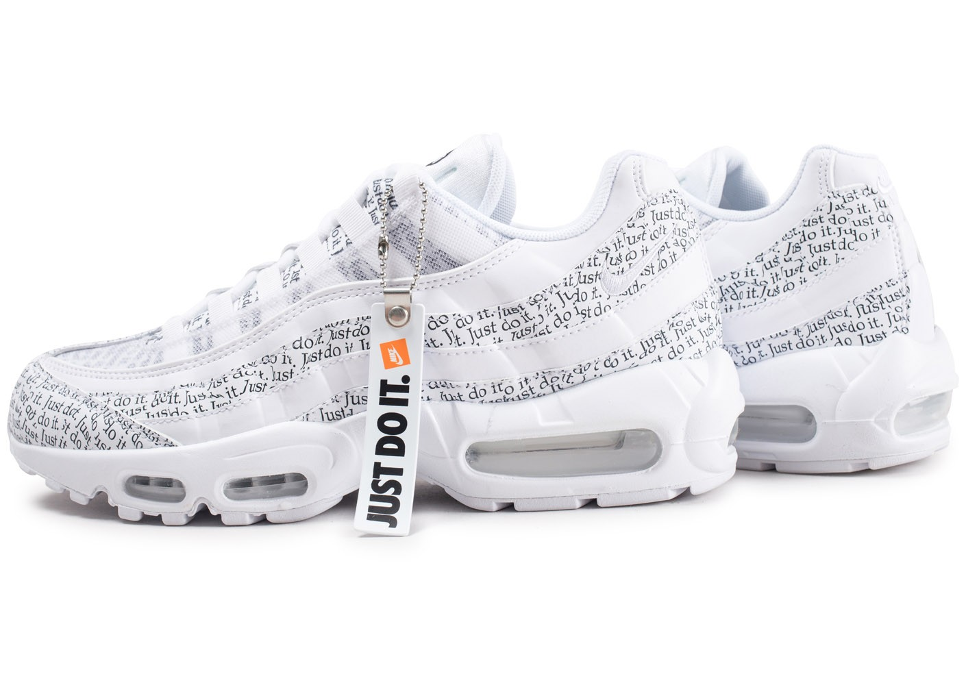 grande vente 5b05b 00baa Nike Air Max 95 SE blanche Just Do It - Chaussures Baskets ...